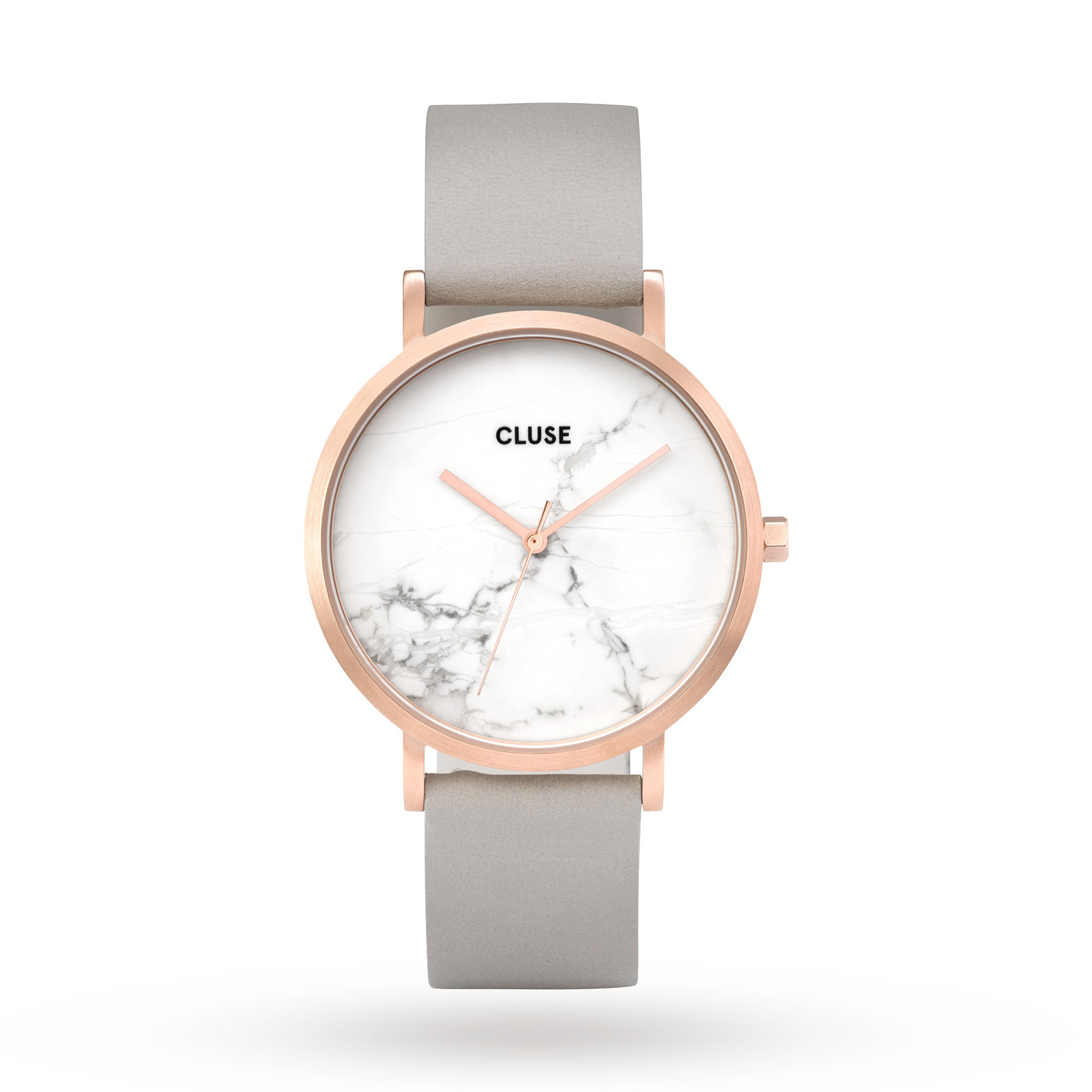 Cluse Ladies La Roche Rose Gold White Marble/Grey