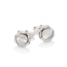 Albany sterling silver and mother of pearl cufflinks