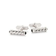 Albany sterling silver and onyx cufflink