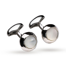 Babette Wasserman Rhodium Plated Oscillation Cufflinks