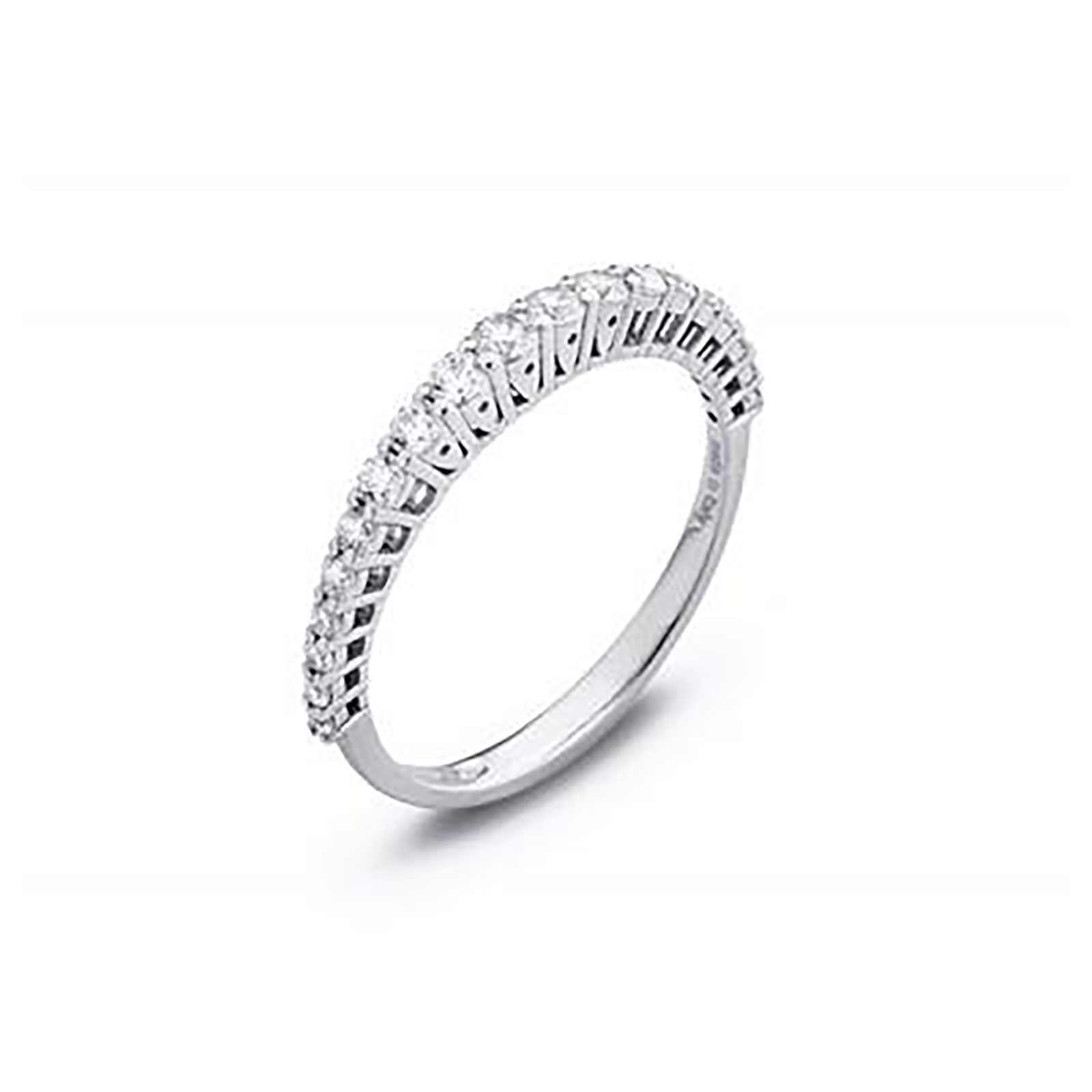 Ponte Vecchio brilliant cut 0.56 carat total weight diamond eternity ring in 18 carat white gold