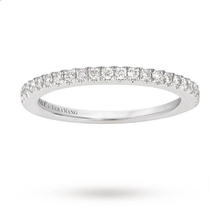 Vera Wang Love 0.23 Carat Total Weight Brilliant Cut Diamond Eternity Ring in Platinum