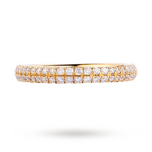 Vera Wang Love 0.38 Carat Total Weight Brilliant Cut 2 Row Diamond Eternity Ring in 18 Carat Yellow Gold