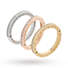 Michael Kors Three Coloured Stacking Ring - Ring Size P