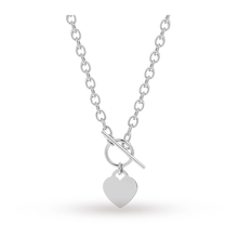 T Bar Heart Necklace