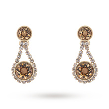 Ted Baker Jewellery Ladies' PVD Gold Plated Stormm Crystal Chain Earrings