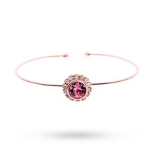 Ted Baker Jewellery Ladies' PVD rose Plating Sappelle Crystal Daisy Ultra Fine Cuff