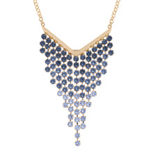 Ted Baker Jewellery Ladies' PVD Gold Plated Odessa Ombre Crystal Waterfall Necklaces