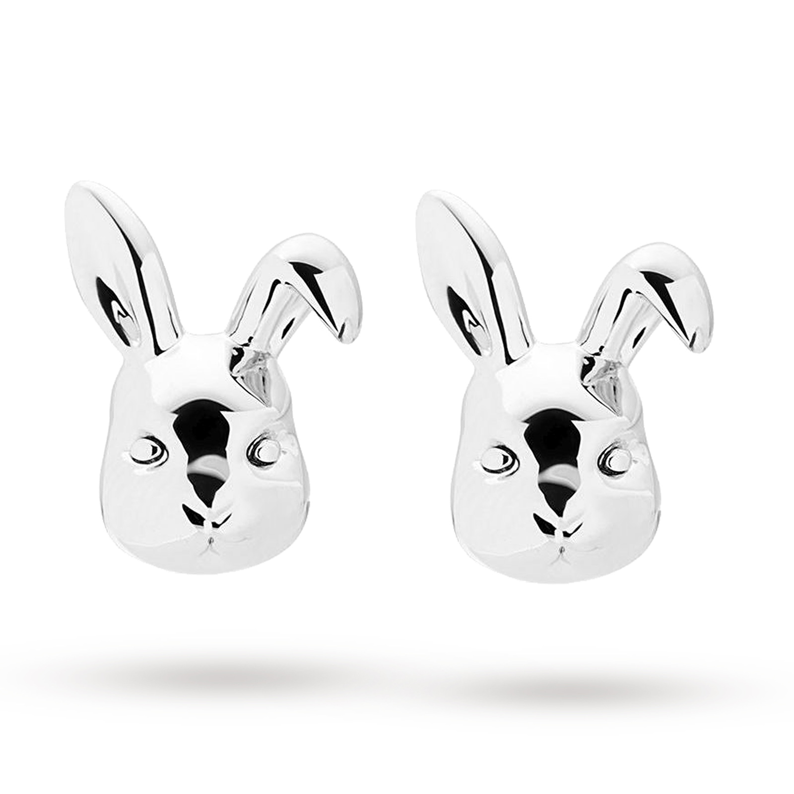 Ted Baker Silver Plated Bluebel Rabbit Earrings