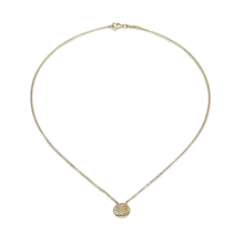 Fope Lovely Daisy 18ct Yellow Gold Disc Necklace