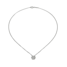 Fope Lovely Daisy 18ct White Gold Disc Necklace
