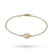 Fope Lovely Daisy 18ct Yellow Gold Disc Bracelet