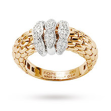 Fope Diamond Set Love Nest Ring in 18 Carat Yellow Gold