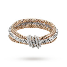 Fope Mia Luce Three Colour Diamond Bracelet