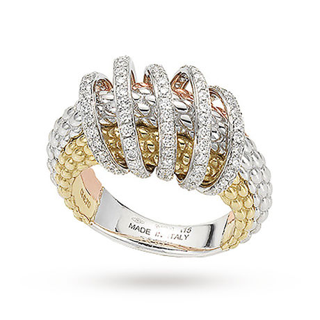 Fope Mia Luce Three Colour Diamond Ring