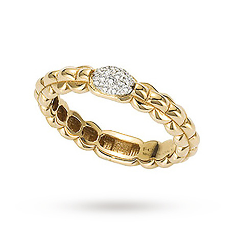 Fope Eka Tiny Diamond Ring in 18ct Yellow Gold