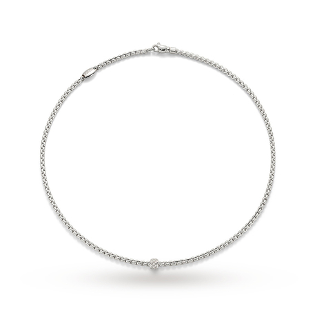 Fope Eka Tiny 60cm Diamond Set Necklace