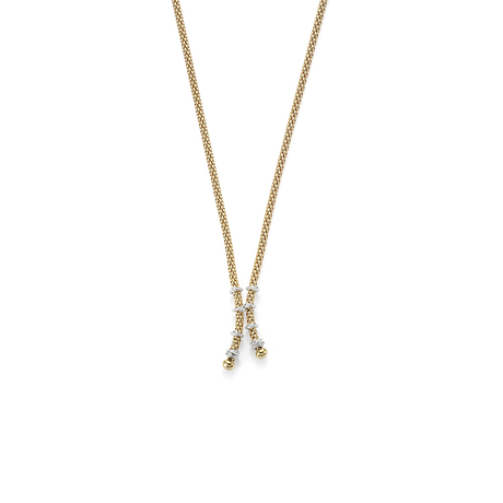 Fope 18ct Yellow Gold Flex'it Prima Eyes Tassel Necklace