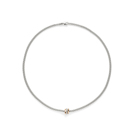 Fope 18ct White Gold Flex'it Prima Pave Necklace