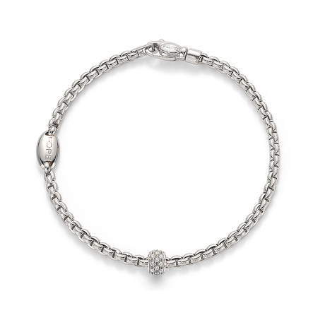 For Her - Fope 18ct White Gold Eka Pave Bracelet