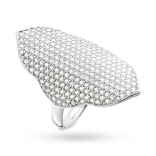 Thomas Sabo Ladies Pave Ring - Size O