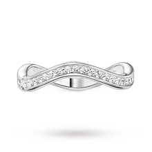 Thomas Sabo Ladies Silver Cz Wave Channel -Size P.5