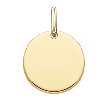 Thomas Sabo Love Coins Gold Plated Engravable Love Disc Lbpe0001-413-12