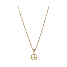 Emporio Armani Ladies Revealed Identity Silver Yellow Gold Plated Necklace