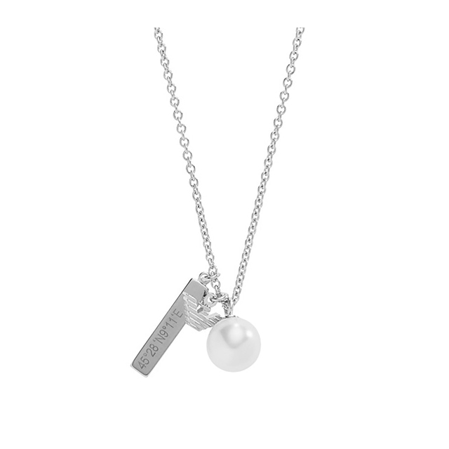 Emporio Armani Ladies Charm Sterling Silver Necklace EG3314040