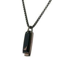 Emporio Armani Mens Dog Tag Necklace EGS2342200
