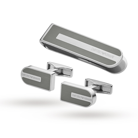 Emporio Armani Jewellery Men's Stainless Steel Cufflinks Gift Set