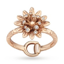 Gucci Flora Rose Gold and Diamond Ring