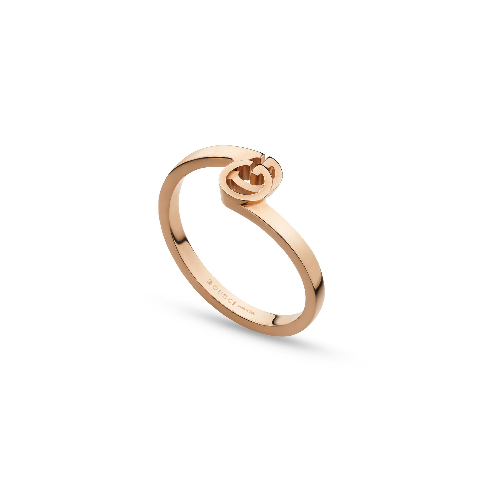 Gucci Running G Ring in 18ct Rose Gold - Ring Size M