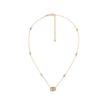 Gucci Running G 18ct Yellow Gold Multicolour Necklace