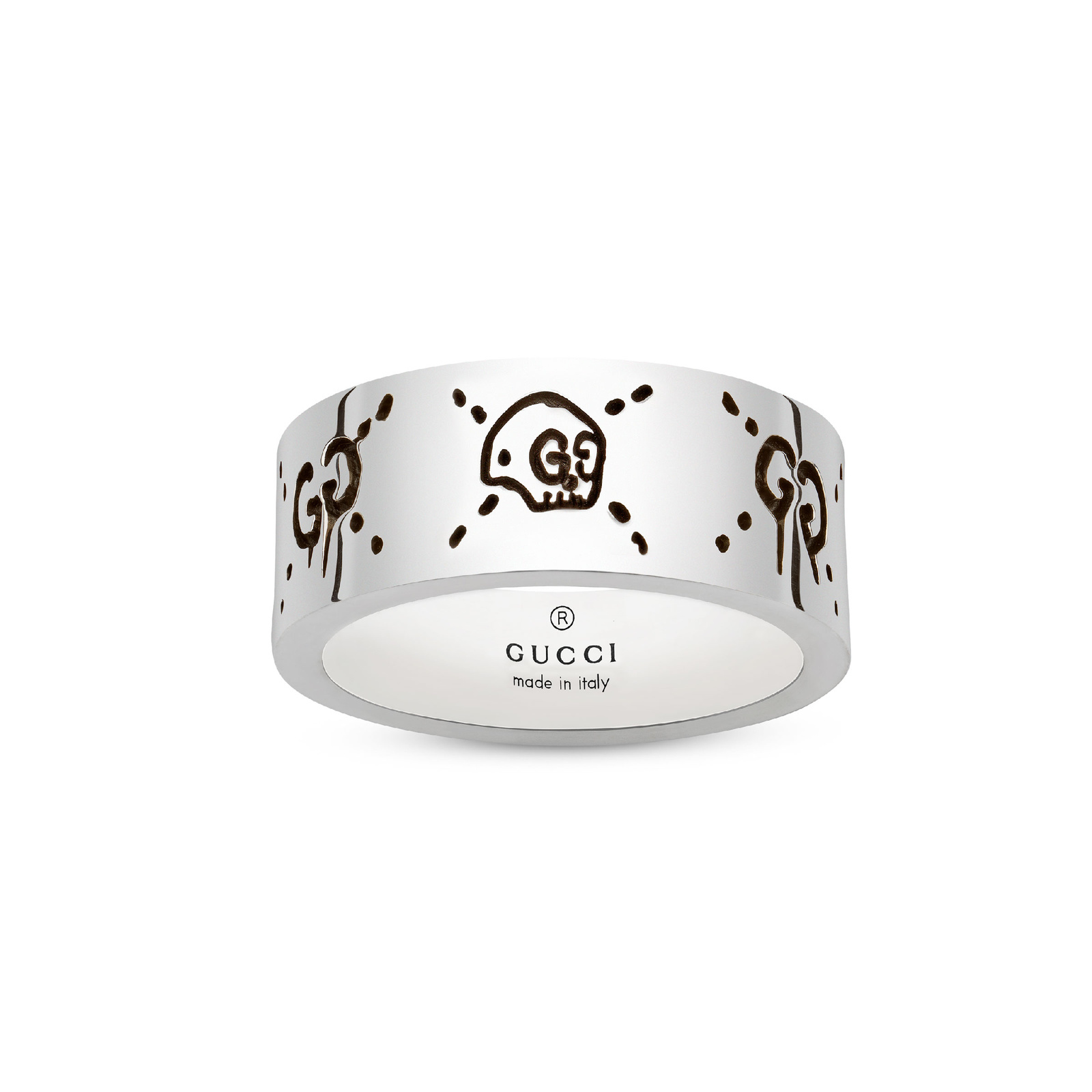 GucciGhost 9mm Ring in Silver - Ring Size N
