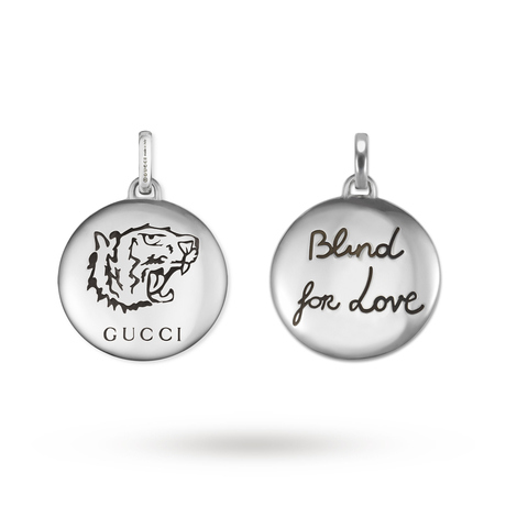 Gucci Blind for Love Tiger Silver Charm