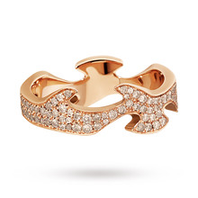 Georg Jensen Fusion Diamond Centre Ring in 18 Carat Rose Gold