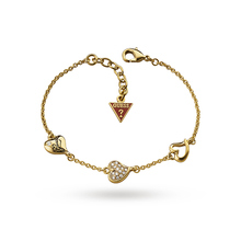 Guess Triple Heart Gold Plated Bracelet