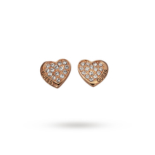 Guess Rose Gold Plated Crystal Set Heart Earrings