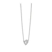 Guess G Hearts Crystal Set Rhodium Plated Necklace