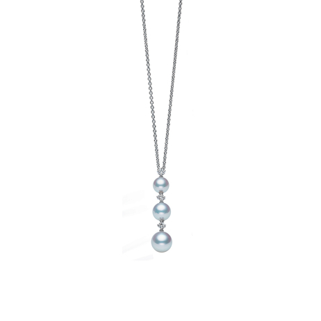 Mikimoto Pearl and Diamond Drop Pendant