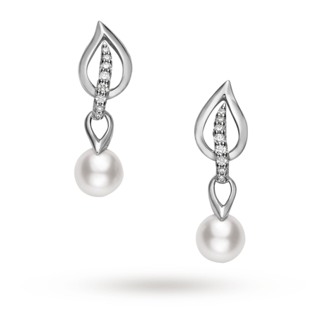 Mikimoto Laurel Earrings