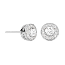 Jenny Packham 18ct White Gold 0.23ct Brilliant Cut Halo Diamond Earrings