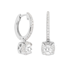 Jenny Packham 18ct White Gold 0.56ct Brilliant Cut Diamond Earrings