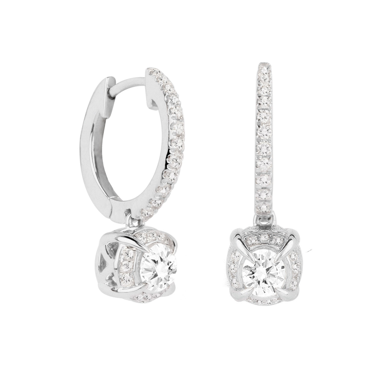 Jenny Packham 18ct White Gold 0.56 Carat Total Weight Brilliant Cut Diamond Earrings