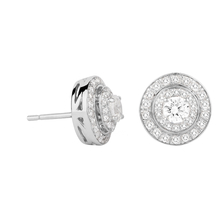 Jenny Packham 18ct White Gold 0.45ct Brilliant Cut Double Halo Diamond Earrings