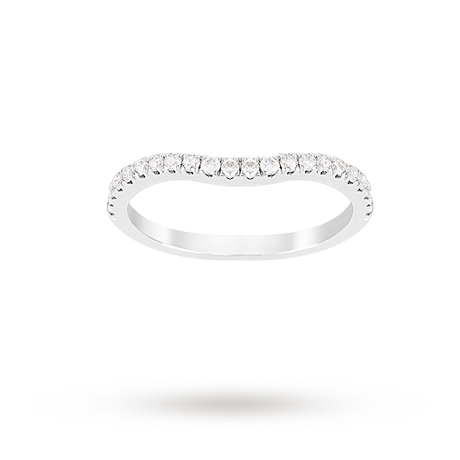 For Her - Jenny Packham Brilliant Cut 0.35 Carat Total Weight Contour Wedding Ring in Platinum