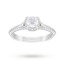 Jenny Packham Brilliant Cut 0.85 Carat Total Weight Solitaire Diamond Ring in Platinum