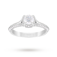 Jenny Packham Brilliant Cut 1.10 Carat Total Weight Solitaire Diamond Ring in Platinum