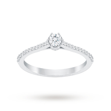 Jenny Packham 18 Carat White Gold 0.33 Carat Diamond 6 Claw Single Stone Ring